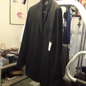 NWT CLAIBORNE BLACK SUIT JACKET/COAT SIZE 42 LONG